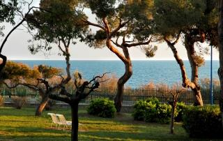 Le parc du Lazaret face à la mer
